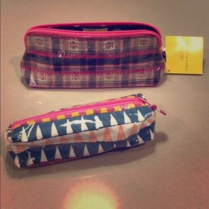 Roller Rabbit make up case + pencil case